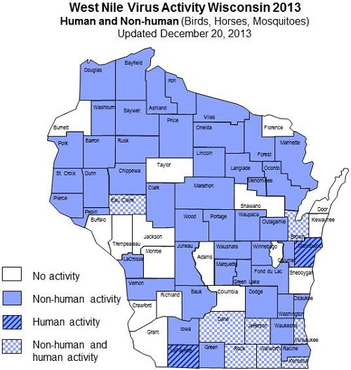 West Nile virus 2013 Surveillance activity in Wisconsin
