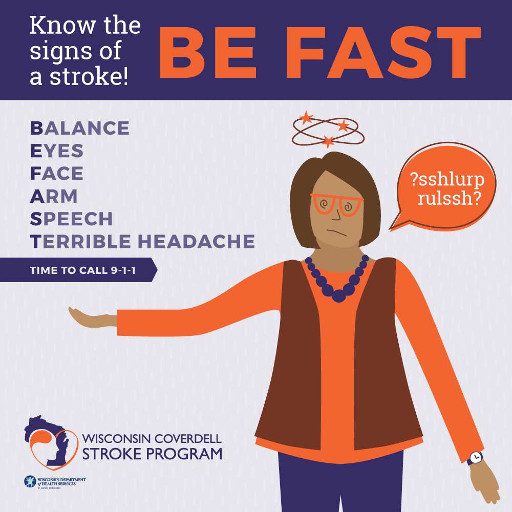 Be Fast Know the Signs of a Stroke Poster