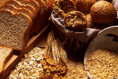 Still photo of bread and grains