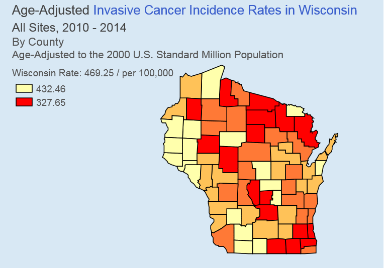 Cancer Rates by County