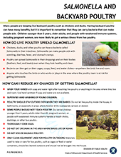 Cover - Salmonella and Backyard Poultry