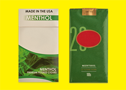 Menthol tobacco products