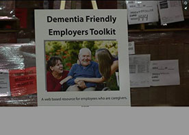 Dementia Friendly Employers Toolkit poster from toolkit launch event