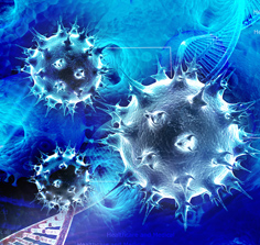 Three dimensional image of a virus