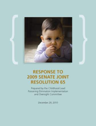 2009 Senate JR 65 Response Cover