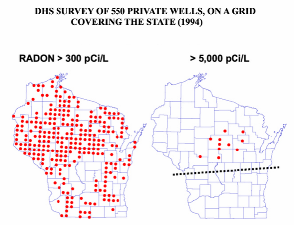 Image showing radon levels in private wells