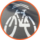 Circle bike road sign