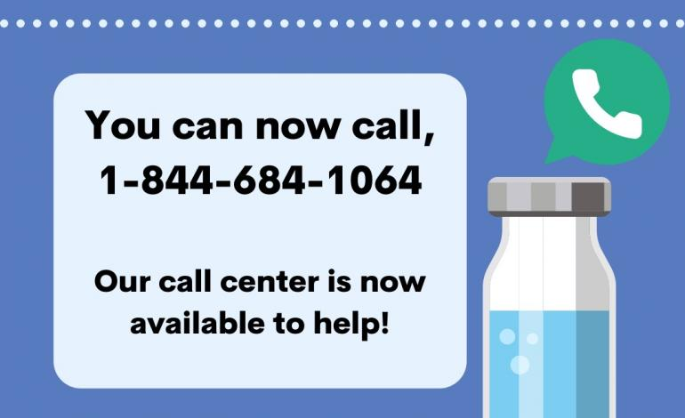 Have Questions about COVID-19 Vaccines? Call 1-844-684-1064
