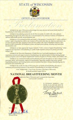 Proclamation for National Breastfeeding Month