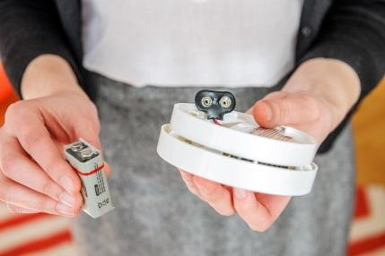 Change batteries in CO detector