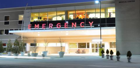 Emergency room exterior.