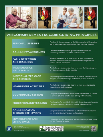 Poster sample: Dementia Care Guiding Principles