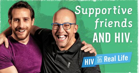 Supportive friends and HIV