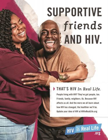 HIV Poster: Supportive Friends and HIV