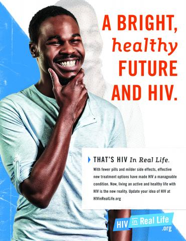 HIV Poster: Bright, Happy future and HIV