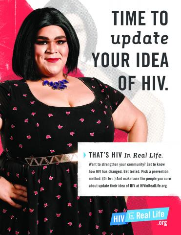 HIV Poster: Time to update your idea of HIV