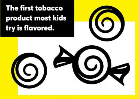 Illustration: The first tobacco product most kids try is flavored