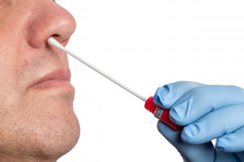A nasal swab test was performed in nose.