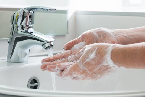 Proper hand washing technique