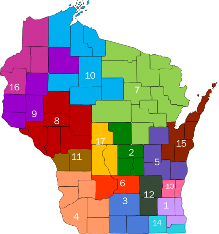 Wisconsin Radon Information Centers  Wisconsin Department