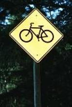 Image of a bicycle traffic sign