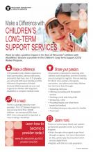 Children's Long-Term Support Services Direct Care Worker Recruitment Poster, P-02719