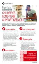 Children's Long-Term Support Services recruitment poster, P-02720
