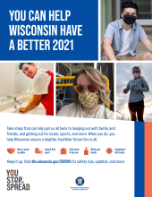 Color poster You can help Wisconsin have a Better 2021