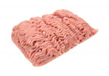 Raw ground turkey.
