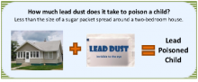 Lead Dust in a Home Bookmark
