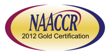 Logo for NAACCR Gold Certification 2012