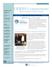 Image representing the front page of the ODHH Connections newsletter