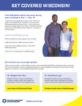 Publication, Get Covered Wisconsin: Find affordable health insurance during open enrollment.