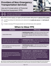 Providers of Transportation Services: Use and Conservation of PPE P02665D