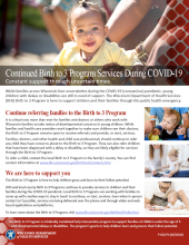 Continued Birth to 3 Services During COVID-19