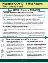 Negative COVID-19 Test Results: What does it mean?