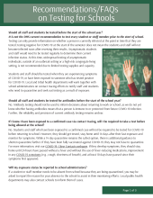 Recommendations/FAQs on Testing for Schools P02766