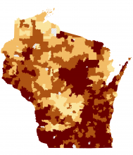 Interactive Radon map for Wisconsin