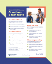 Give them 3 fast facts fact sheet hyperlinked to a full-size copy of the fact sheet