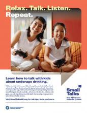 Poster of mom with daughter playing a video game