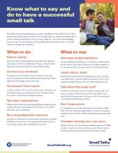 Screen shot of the Small Talks talk tips document
