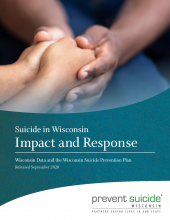 Suicide in Wisconsin Impact and Response cover page