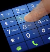 Using a mobile phone keypad