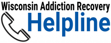 Wisconsin Addiction Recovery Helpline logo without 211 number