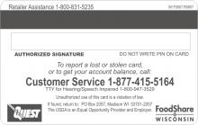 WI EBT card no signature