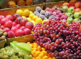 Shot of fresh fruit at a market
