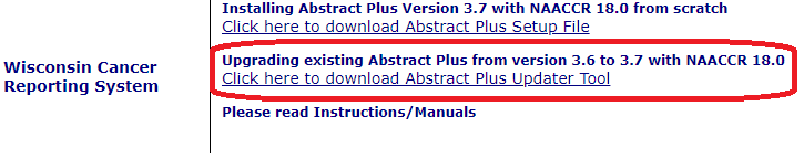 Abstract Plus Upgrade tool