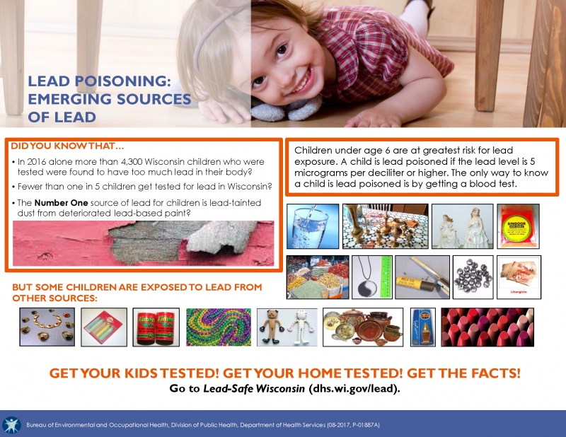Emerging Sources of Lead; Get Your Kids Tested.